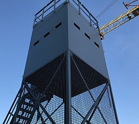 Tower of Prefabricated Welded Modular Structures